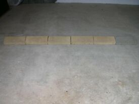 6 x Cotsworld/Buff Coloured Concrete Coping Stones, 2.2m/7ft Long