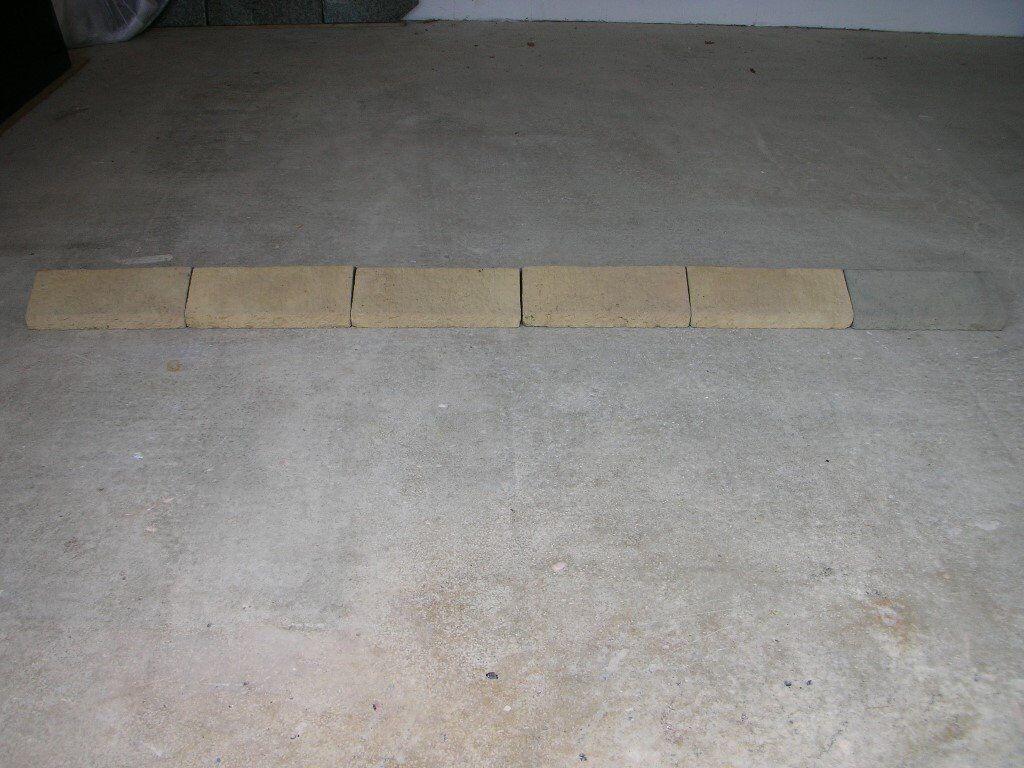 6 x Cotsworld/Buff Coloured Concrete Coping Stones, 2.2m/7ft Long