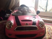 Pink mini with charger v.g.c used twice only
