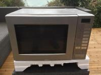Silver oven, grill and microwave combi