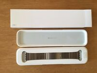 Genuine Apple Watch Stainless Steel Link Bracelet Silver Or Black Available Now!!! RRP £450/£550