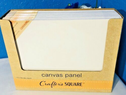 2X Stretched Art Canvas 11x14 White CottonPanel Painting Supplies Acrylic Oil