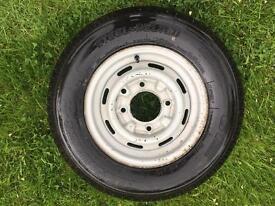 Tyre and rim 165/13c maxmiler-x
