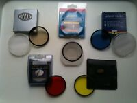 Camera filters for 58mm lens. 5 assorted