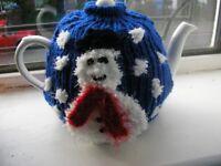 Snowy tea pot and cosy