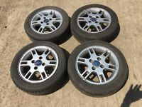 "Ford Ka / fiesta 14"" alloy wheels - good tyres"