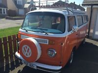 Beautiful 1977 VW T2 Camper. Fabulous condition and ready to roll.