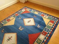 Large Rug - 'gabbeh' style all wool rug