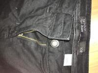 Skinny jeans size 10, black, Next