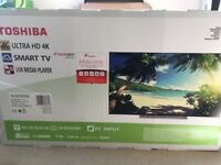 Toshiba 4k 43' backlit full HD TV