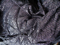 Black American Knit Sequin Dance Fabric