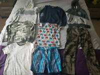 8 items boys clothes shorts, t-shirts jumpers age 6-7 years