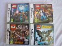 4 x Nintendo DS Lego Games Batman Harry Potter Pirates Caribbean