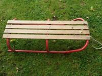 Quality Sleigh (Wood and metal) 2 person