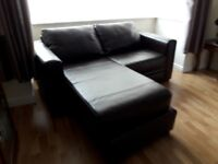 2 seater leather Sofa/chaise