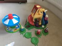 Peppa Pig wind and wobble playhouse and merry go round