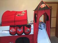 Disney Lightening McQueen midsleeper bed accessories
