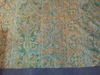 Curtain fabric, peach light green, new