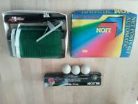 Table Tennis Net and ping pong balls