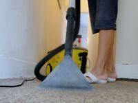 Cleaning carpets and upholstery etc.