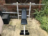Weights bench / Bars + weights 95kg