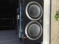 """2 10"""" subs with 400w amp"""