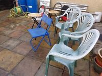 Garden chairs and Kitchen stools