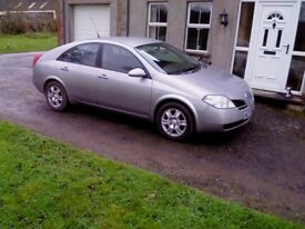 06 NISSAN PRIMERA 1.8s, MOT TO JUNE 18, GREAT ALL ROUND CAR