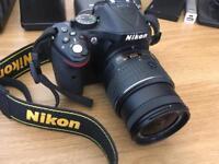 Nikon D D5200 24.1MP Digital SLR Camera - Black (Kit w/ AF-S VR DX 18-55 Lens)