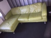 Leather corner couch and 4 seater