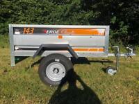 Ex Display Erde 143 Classic Camping Carboot Tip Tipper DIY Trailor 600 KG 5x3
