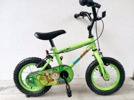 "(2540) 12"" APOLLO Boys Girls Kids Childs Bike Bicycle+ STABILISERS Age: 3-4, 90-105 cm"
