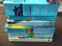 Fiction book bundle 6 books in total Only £2 Very good condition second hand books