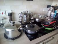 Selection of cooking pans.