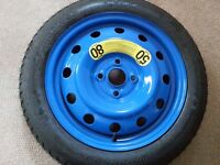 Space saver steel wheel and tyre