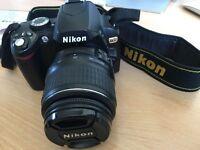 Nikon D60 c/w Nikon 18-55mm 3.5-5.6 G II ED Lens, Charger, Spare Battery, Nikon Bag & Remote VGC.