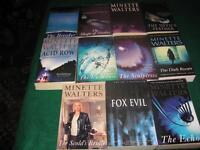 Minette Walters books $1 each or $10 for the lot