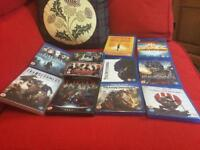 9 BLU RAY DVDS AND 1 DVDALL IN EXCELLENT CONDITION