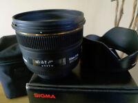 Sigma 50mm F1.4 EX DG. Nikon Fit