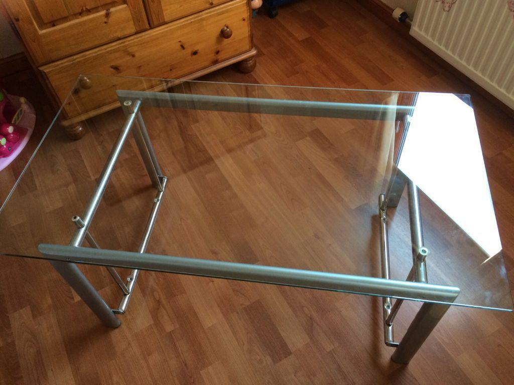 Glass Coffee Table And Cabinet Excellent Condition From Buicks Of Montrose