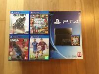 PlayStation 4 500gb w/ 4 Games
