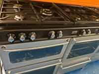Black & silver 110cm new home gas cooker grill & double ovens good condition with guarantee