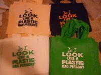 Job Lot of Reusable Shopping Bags Various Colours & Logos