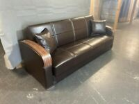 Brand New genuine leather sofa bed 3 seater