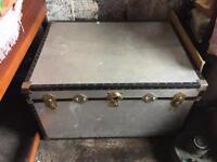 Vintage Metal Storage Trunk/Chest