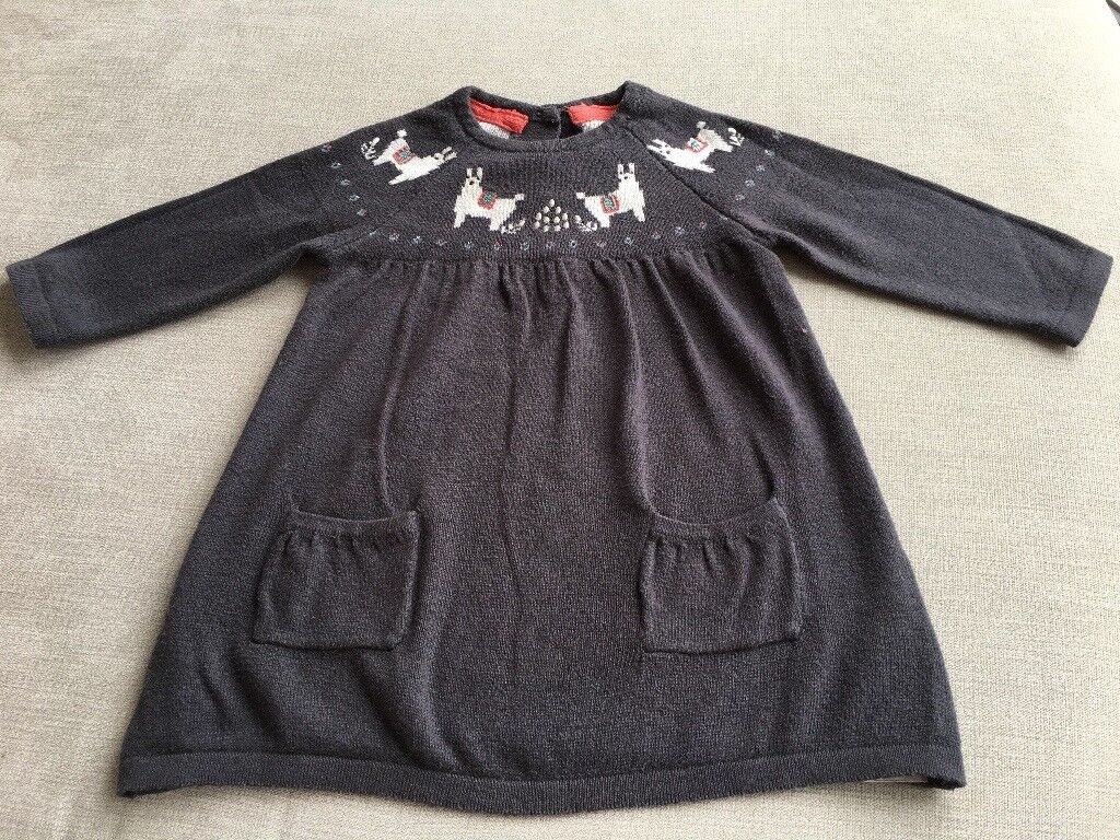 M&S Baby 0-3 month winter knitted dress
