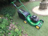 John Deere R47 self propelled alloy petrol lawn mower