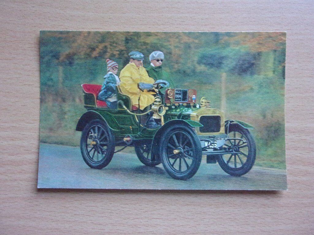VINTAGE 1904 NORFOLK 10 H.P. DOUBLE PHAETON. CLASSIC CARS. VERY CLEAN REAL PHOTOGRAPH POSTCARD.