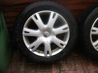 Original Vw Touareg alloys wheels for sale
