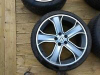 """Vw transporter T5 20"""" alloy wheels ( range rover)"""
